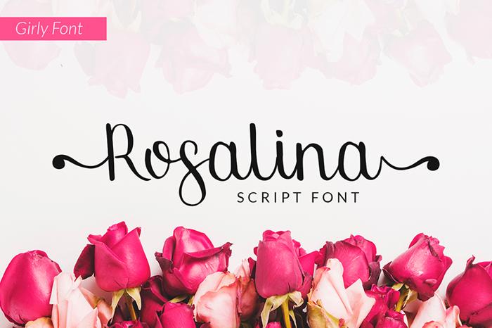Rosalina Font poster