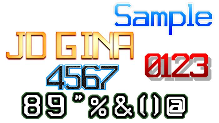 JD Gina Font poster