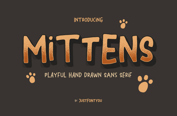 Mittens Font poster