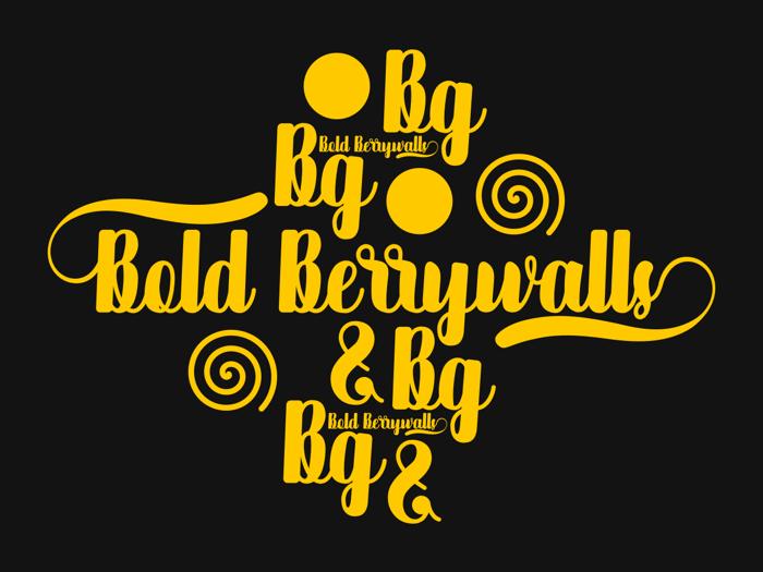 Bold Berrywalls Font poster