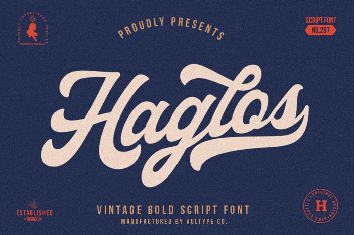 Haglos Font poster