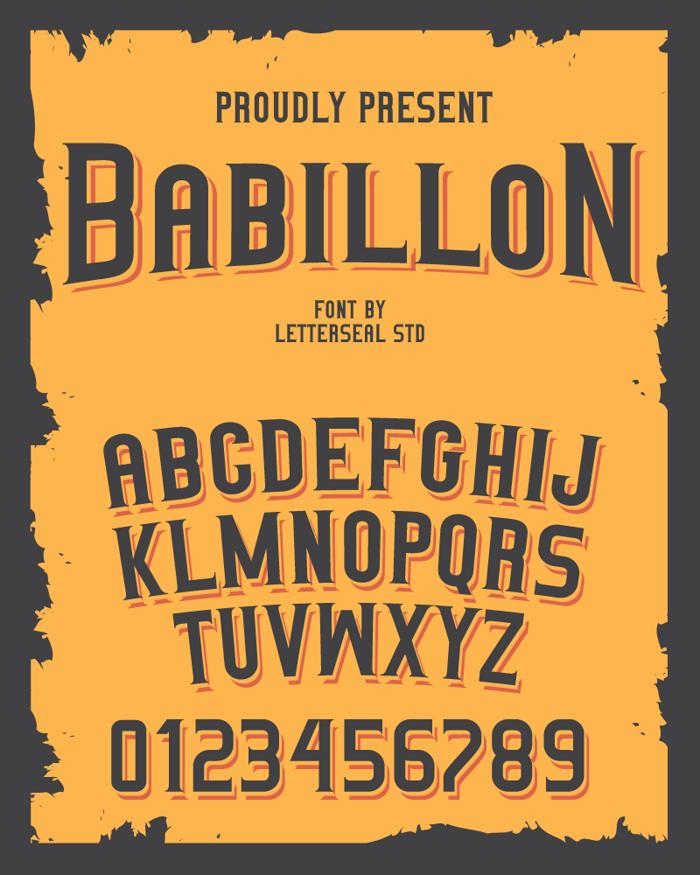 Babillon Font poster