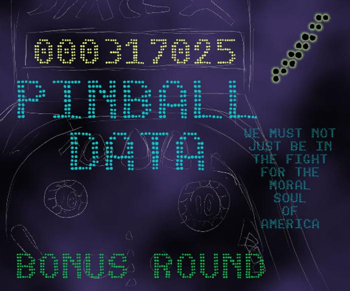 Pinball Data Font poster