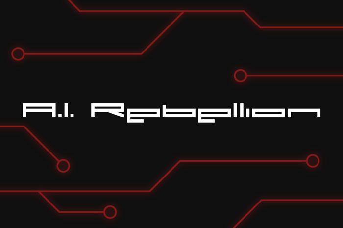A.I. Rebellion Font poster