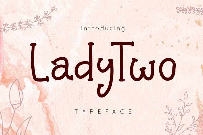 Lady Two Font poster