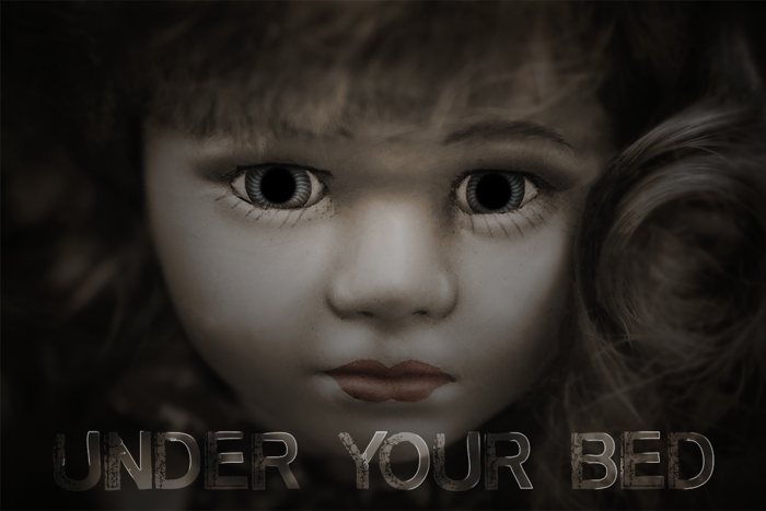 Under Your Bed Font poster