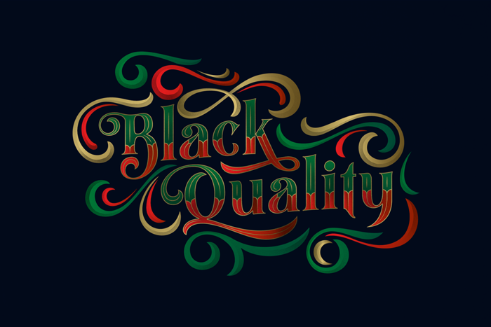 Black Quality Font poster