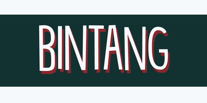 DK Bintang Font poster