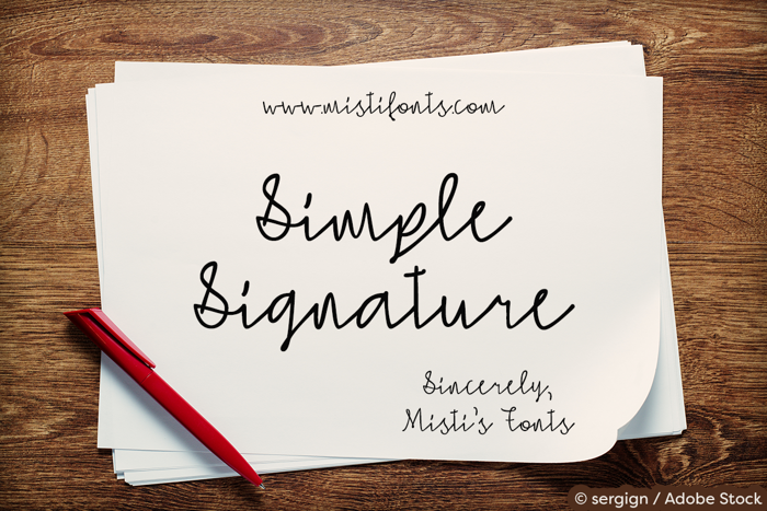 Simple Signature Font poster