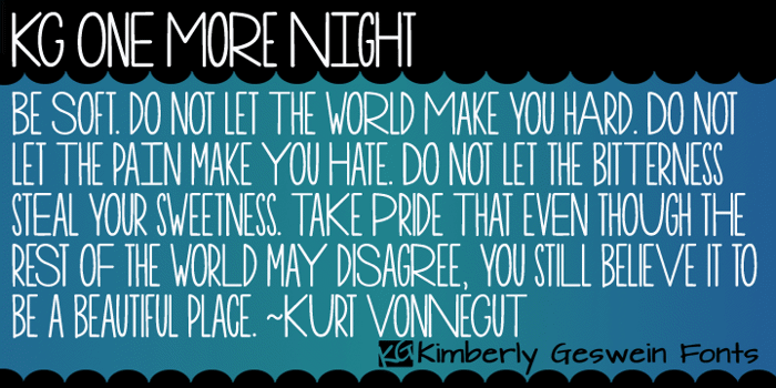 KG One More Night Font poster