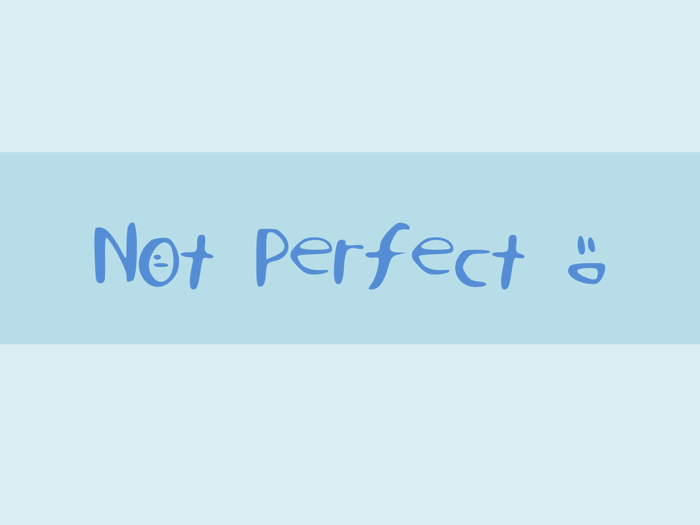 NotPerfect Font poster