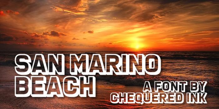 San Marino Beach Font poster