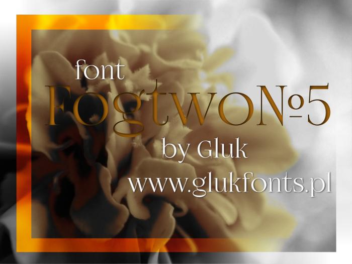 FogtwoNo5 Font poster