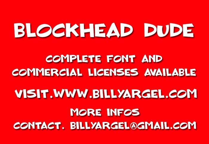 BLOCKHEAD DUDE Font poster