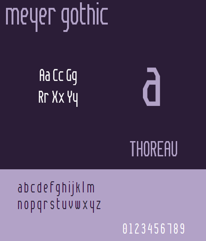 Meyer Gothic NBP Font poster
