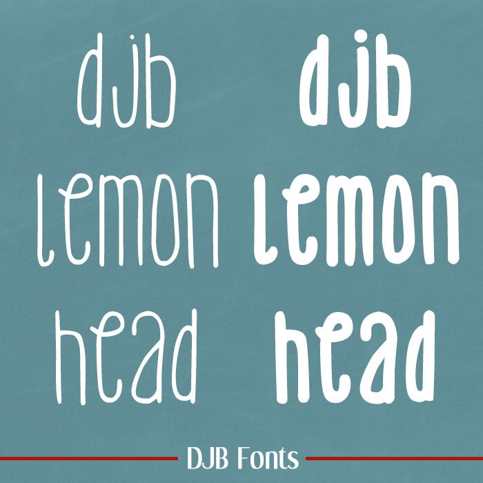 DJB Lemon Head Font poster
