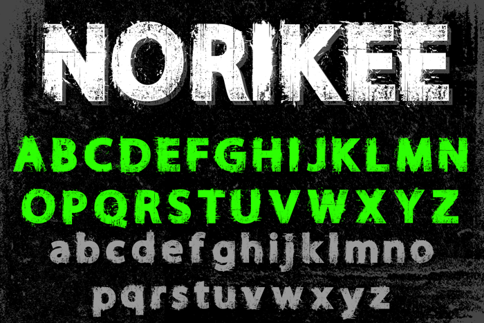 NORIKEE DEMO Font poster