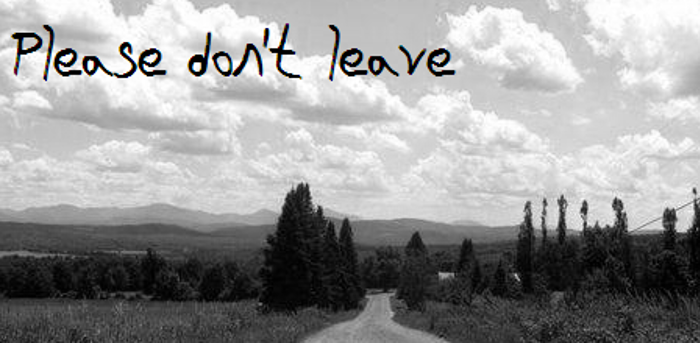 Please Dont Leave NBP Font poster