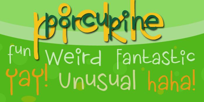 DK Porcupine Pickle Font poster