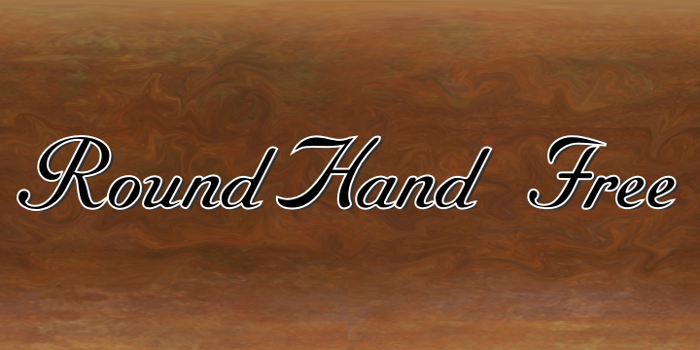 RoundHand Free Font