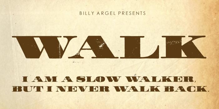WALK Font poster