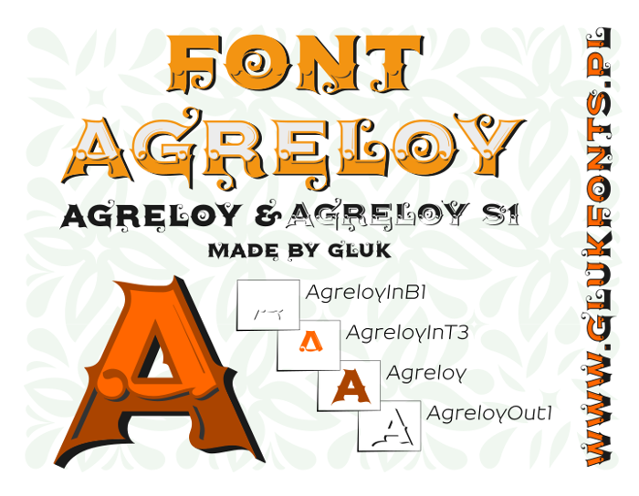 Agreloy Font poster