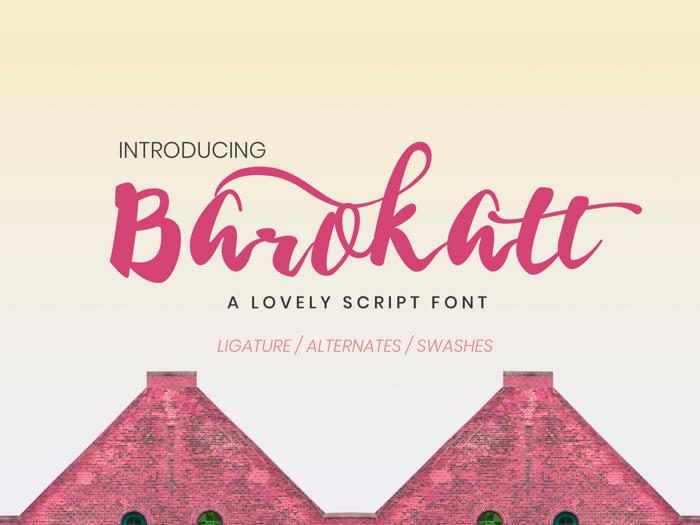 Barokatt Font poster