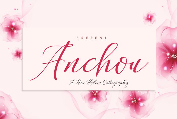 Anchou Font poster