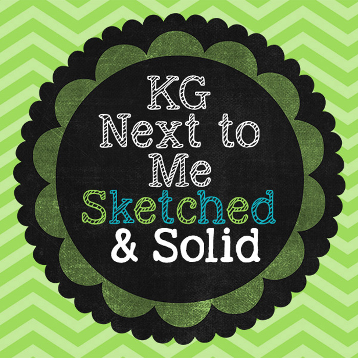 KG Next to Me Font poster