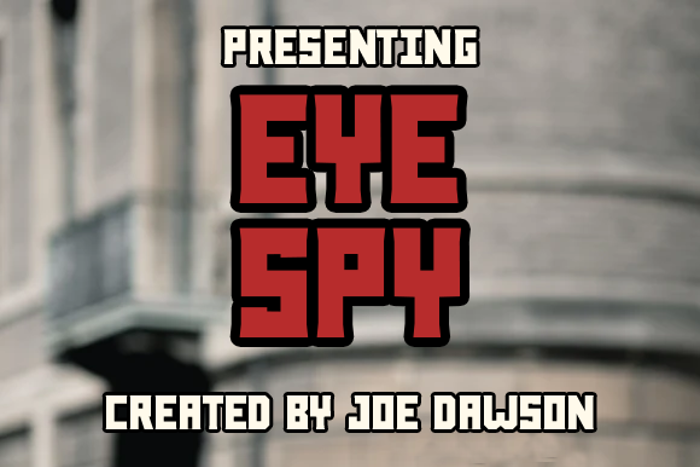 Eye Spy Font poster