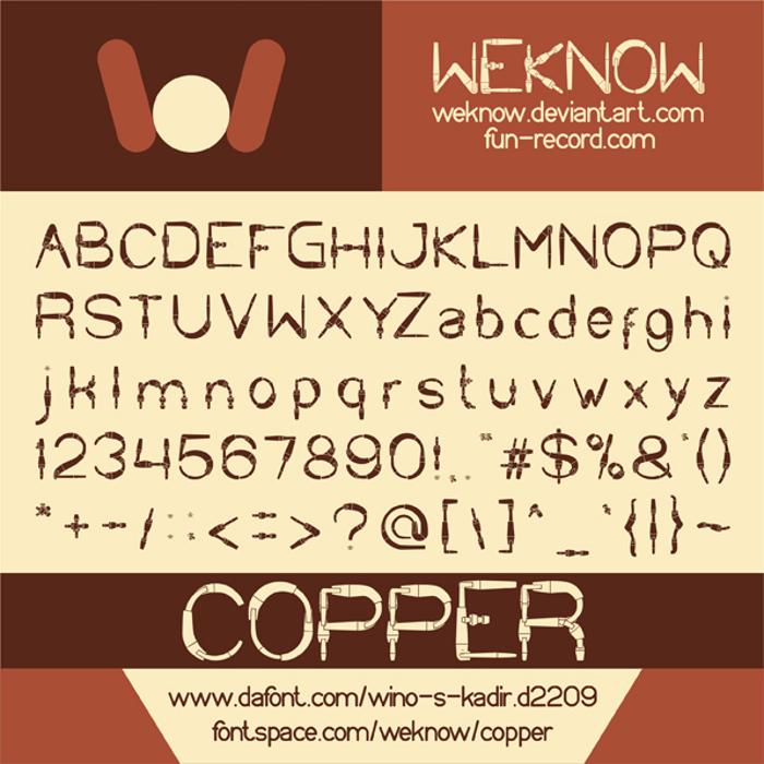 COPPER Font poster