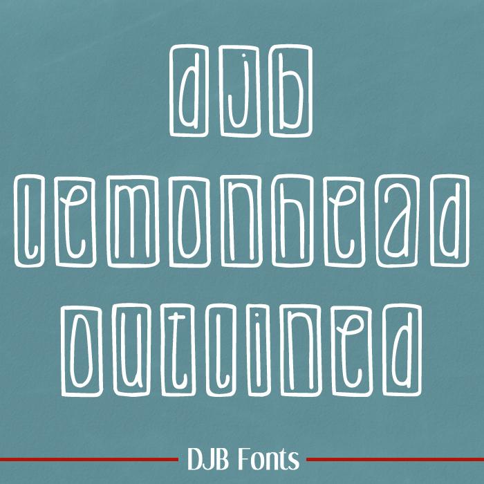 DJB Lemon Head Outlined Font poster