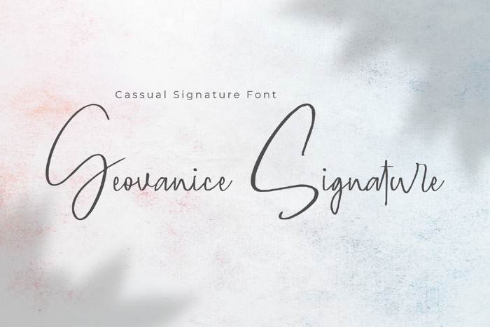 Geovanice Font poster