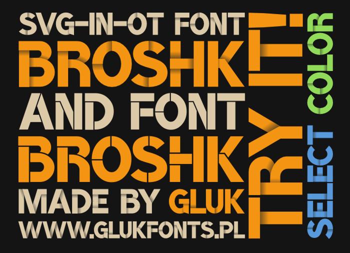 BroshK Font poster