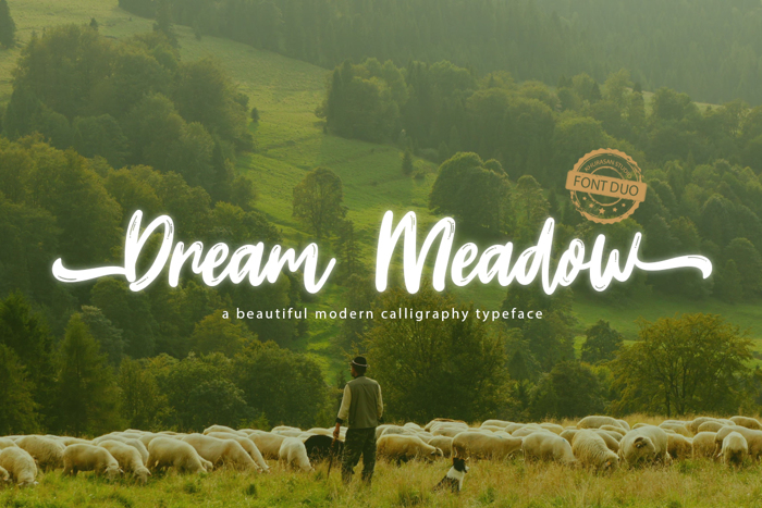 Dream Meadow Font poster