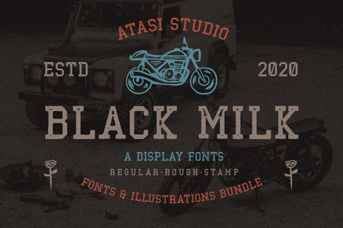 Black Milk Rough Font poster