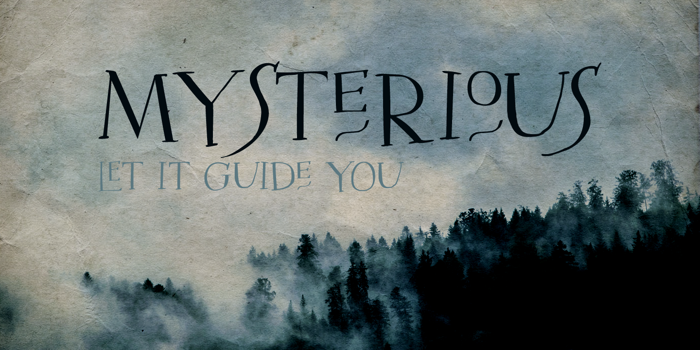 DK Mysterious Font poster