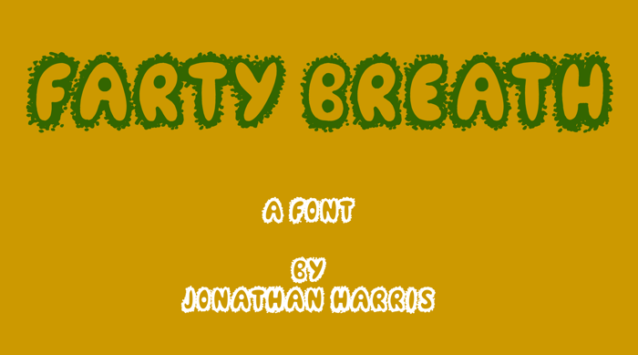 Farty Breath Font poster