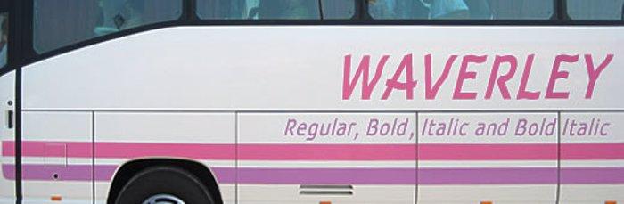 Waverley Font poster