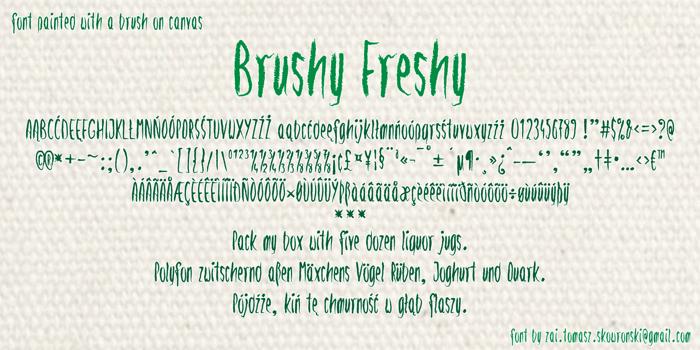 Brushy Freshy Font poster