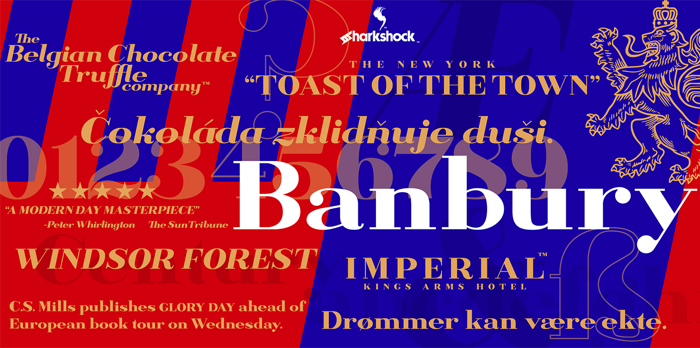 Banbury Font poster