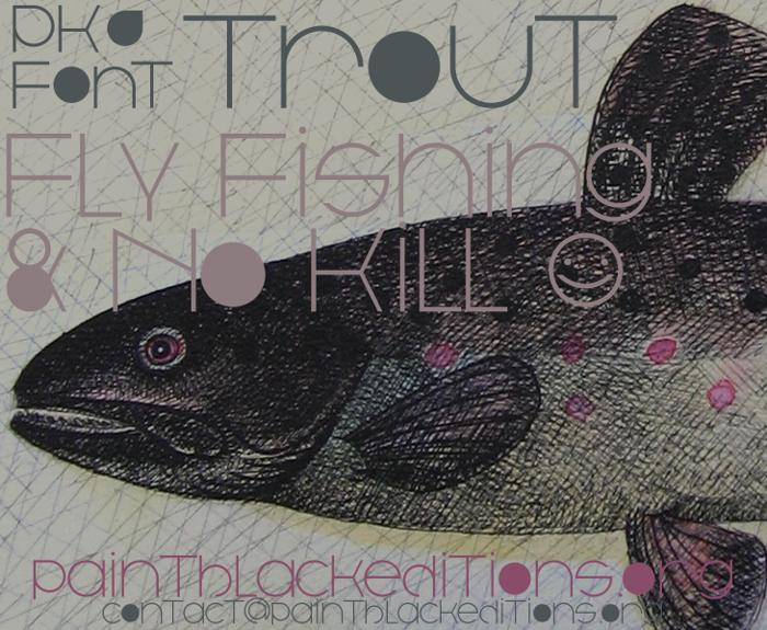 Trout Font poster