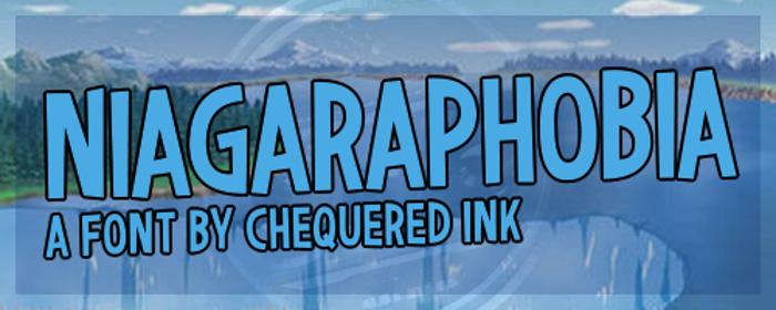Niagaraphobia Font poster