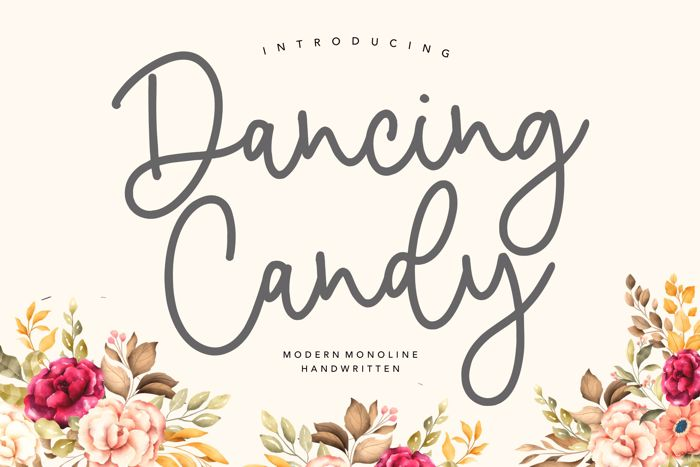 Dancing Candy Font poster