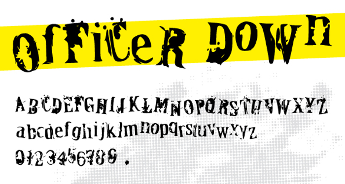 OfFiCeR DoWn Font poster