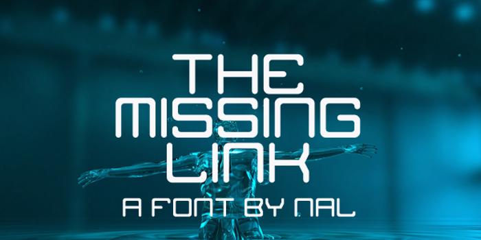 The Missing Link Font poster