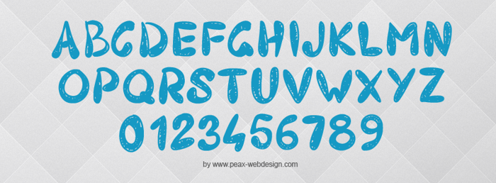 PW403 Font poster