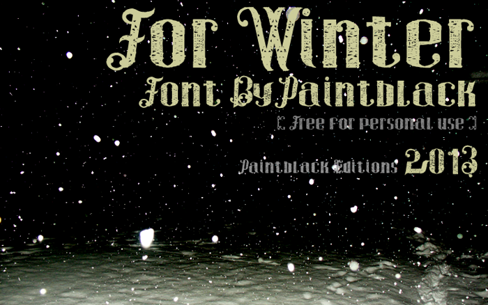 For Winter Font poster