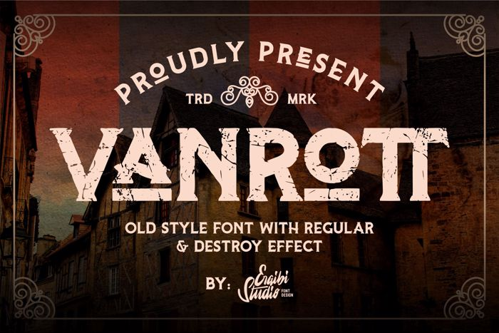Vanrott Destroy Font poster