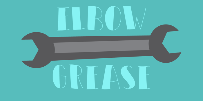 DK Elbow Grease Font poster